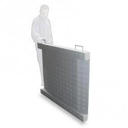 Plataforma Extraplana Movil Aluminio 4 células 1200 x 1200 mm