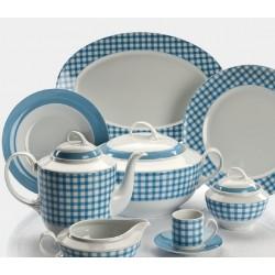 Vajilla 56 piezas Aloia Campiña Azul - Santa Clara