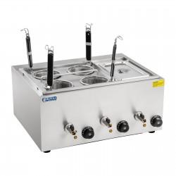 Maquina Cocedora de Pasta 4 Cestas y Recipiente GN1/3