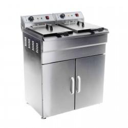 Freidora Electrica Doble con Armario 2x16L - 2x6000W