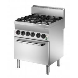 Cocina a Gas 4 Fuegos - Horno Electrico