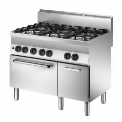 Cocina a Gas 6 Fuegos - Horno a Gas y Armario