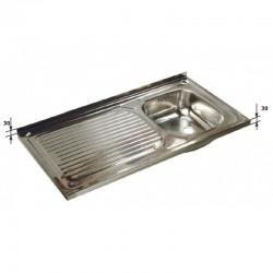 Fregadero Semi-Industrial Sin Bastidor 1 seno - 800x500