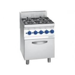 Cocina Sobremesa a Gas 4 Fuegos con Horno Electrico - 16,28 kw