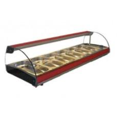 Vitrina calentador con 4 bandejas