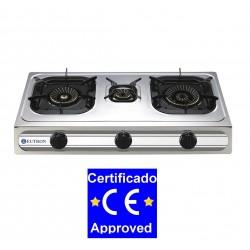 Cocina Sobremesa a Gas - 3 Fuegos