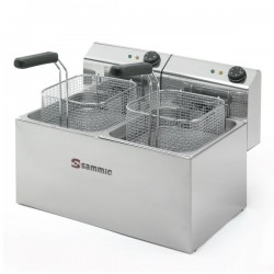 Freidora Electrica Gastronorm 6+6L SAMMIC