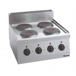 Cocina Sobremesa Electrica 4 Fuegos