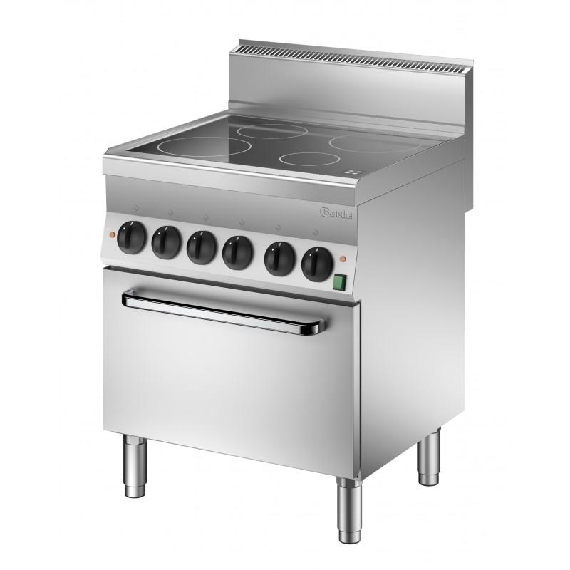 Vitroceramica 4 fuegos horno electrico - Maquinaria de hostelería