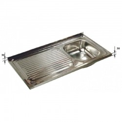 Fregadero Semi-Industrial Sin Bastidor 1 seno - 900x500
