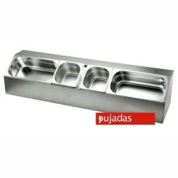 Presentador 6 Cubetras GN 1/6 Inox - Pujadas