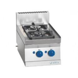 Cocina Sobremesa a Gas 2 Fuegos - 8,14 kw