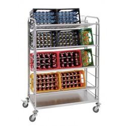 Carro Transporte Cajas de Bebidas - 4 Niveles