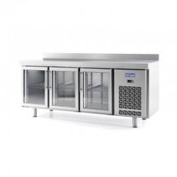 Mesa Refrigerada con Puerta de Cristal GN 1/1 Serie IM.
