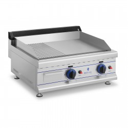 Plancha a Gas Natural Acero Inox Mixta 650 mm - 20mbar